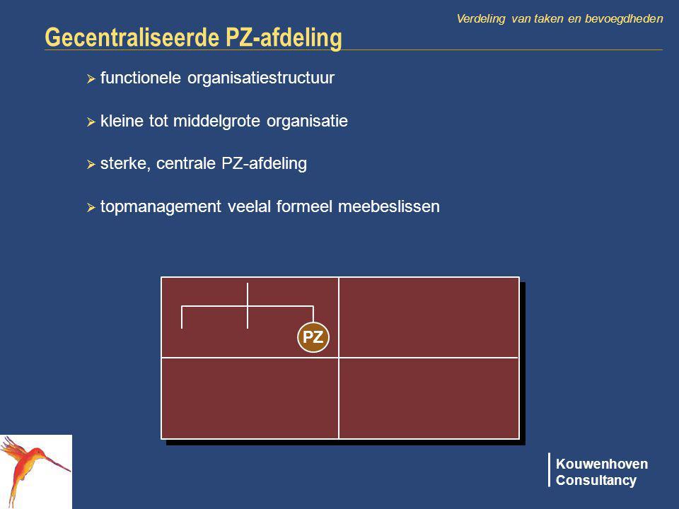 Gecentraliseerde PZ-afdeling