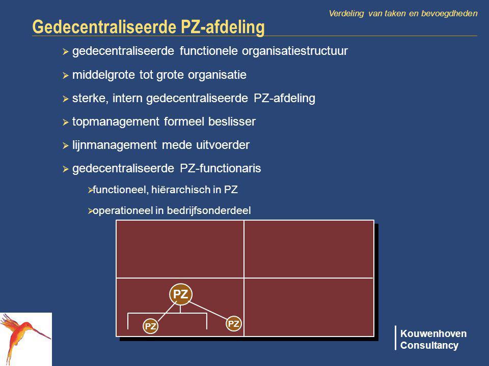 Gedecentraliseerde PZ-afdeling