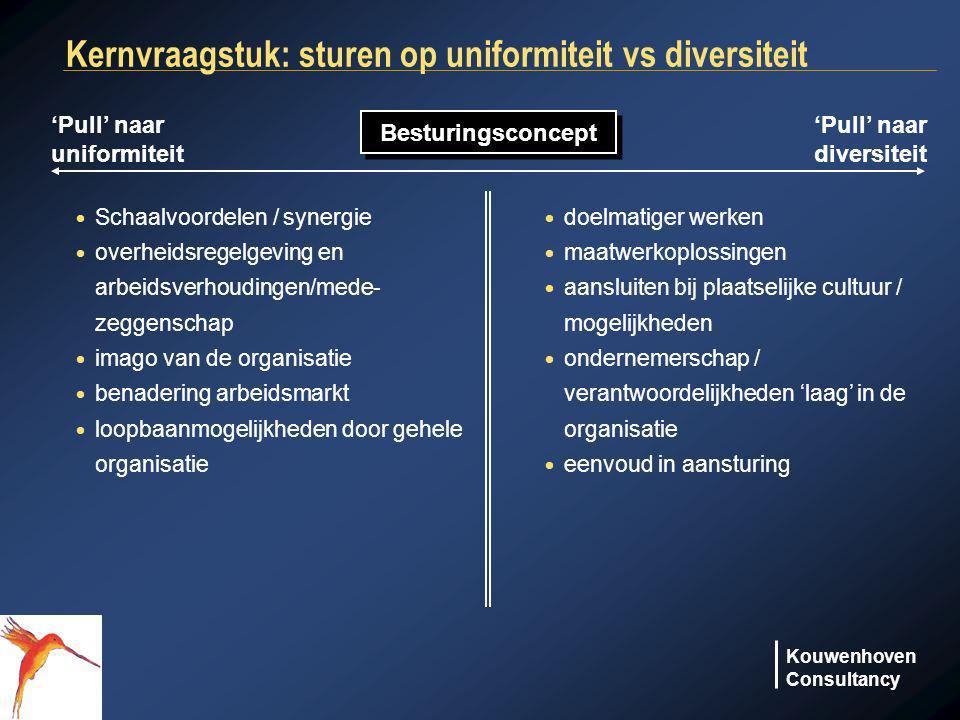 Kernvraagstuk: sturen op uniformiteit vs diversiteit
