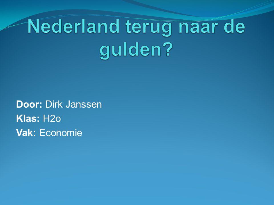Nederland terug naar de gulden