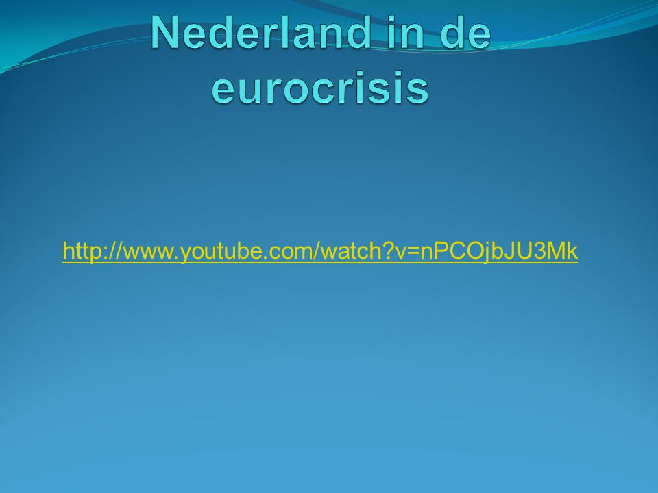 Nederland in de eurocrisis