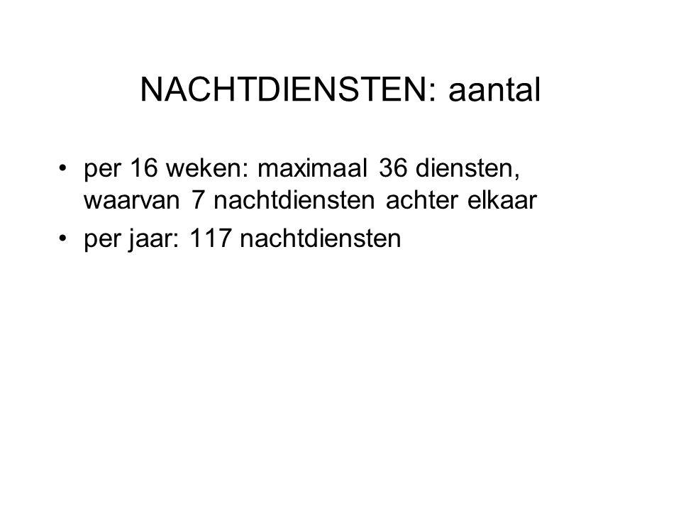 NACHTDIENSTEN: aantal