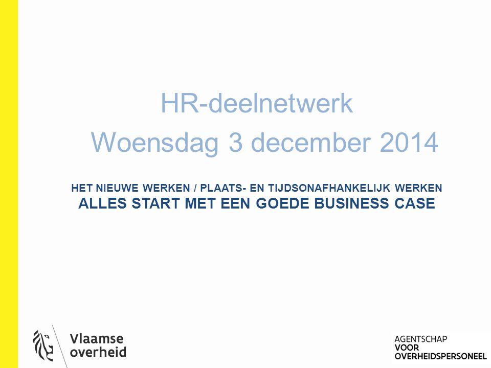 HR-deelnetwerk Woensdag 3 december 2014