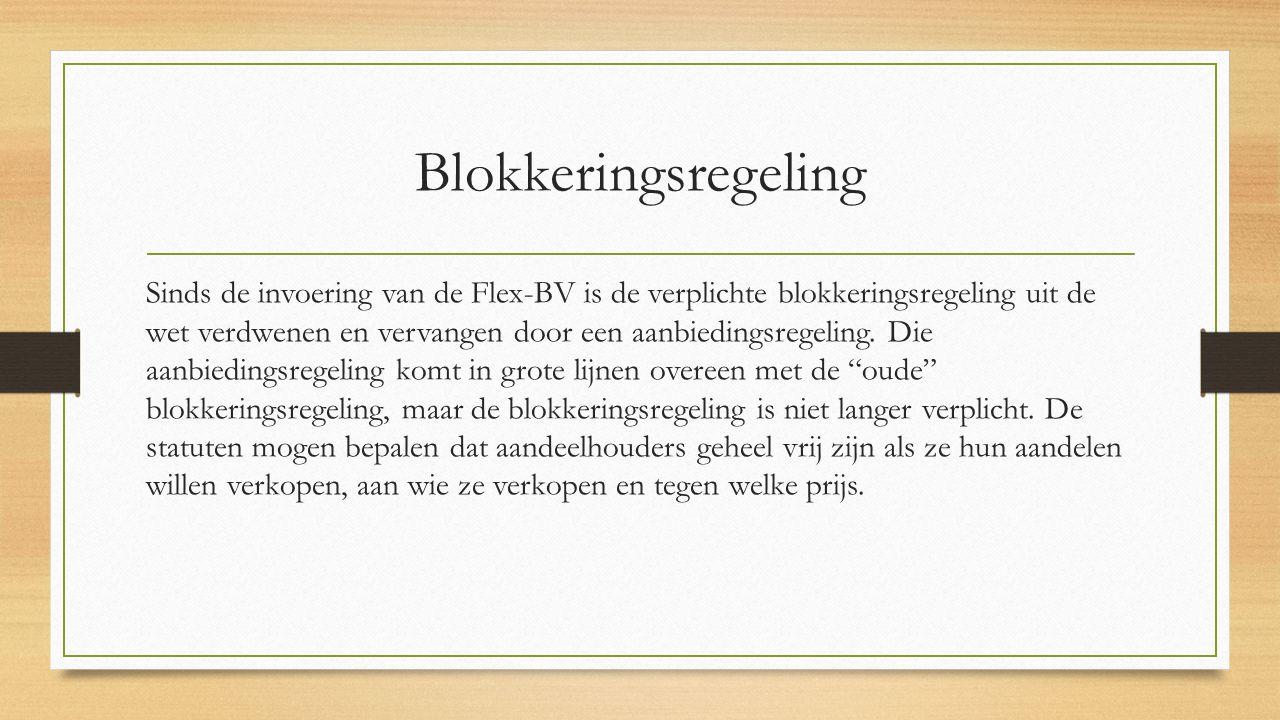 Blokkeringsregeling