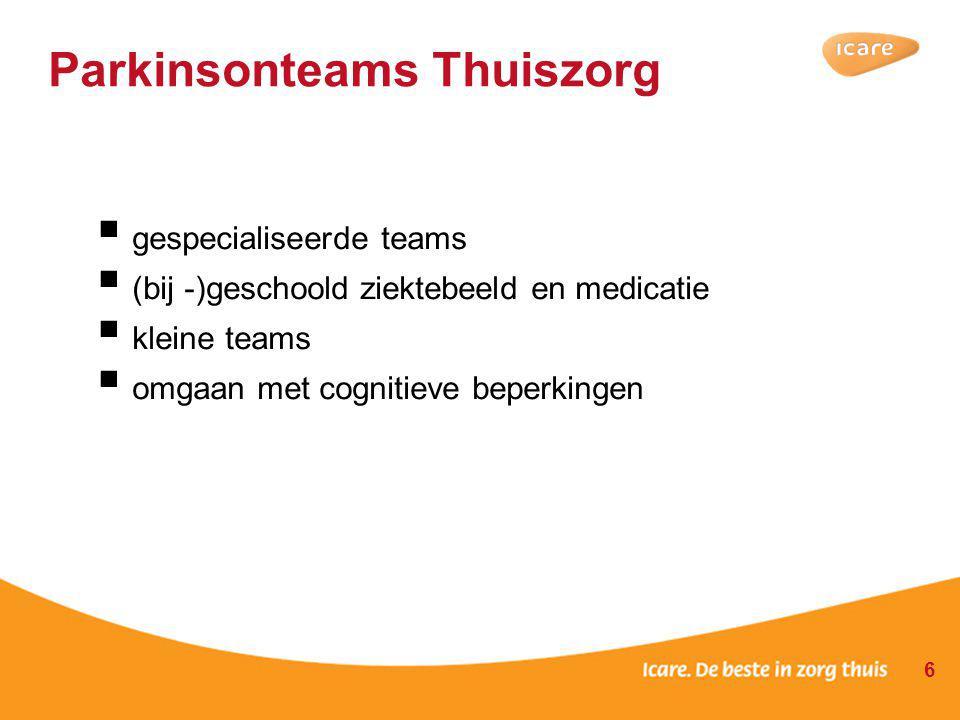 Parkinsonteams Thuiszorg