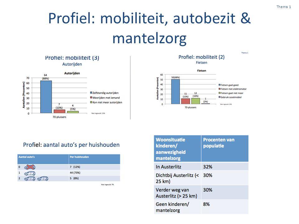 Profiel: mobiliteit, autobezit & mantelzorg