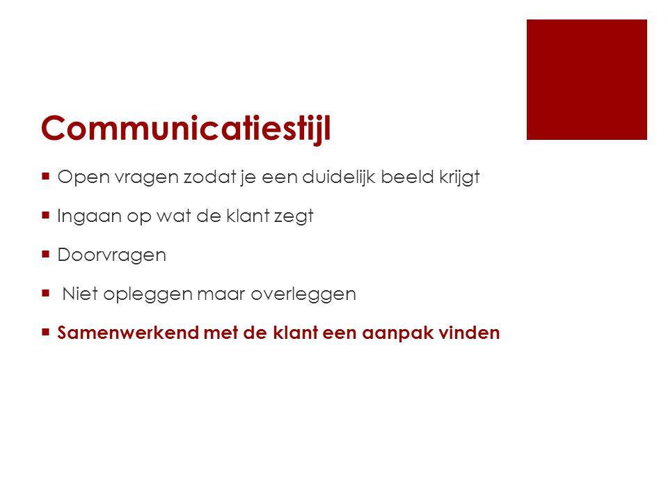 Communicatiestijl Open vragen zodat je een duidelijk beeld krijgt