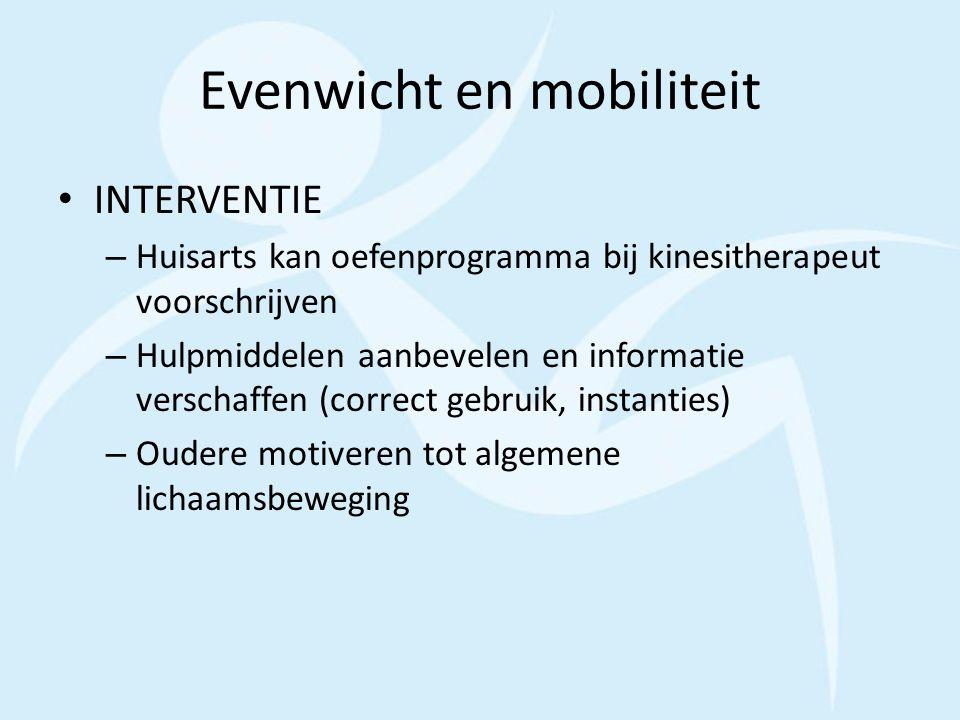 Evenwicht en mobiliteit