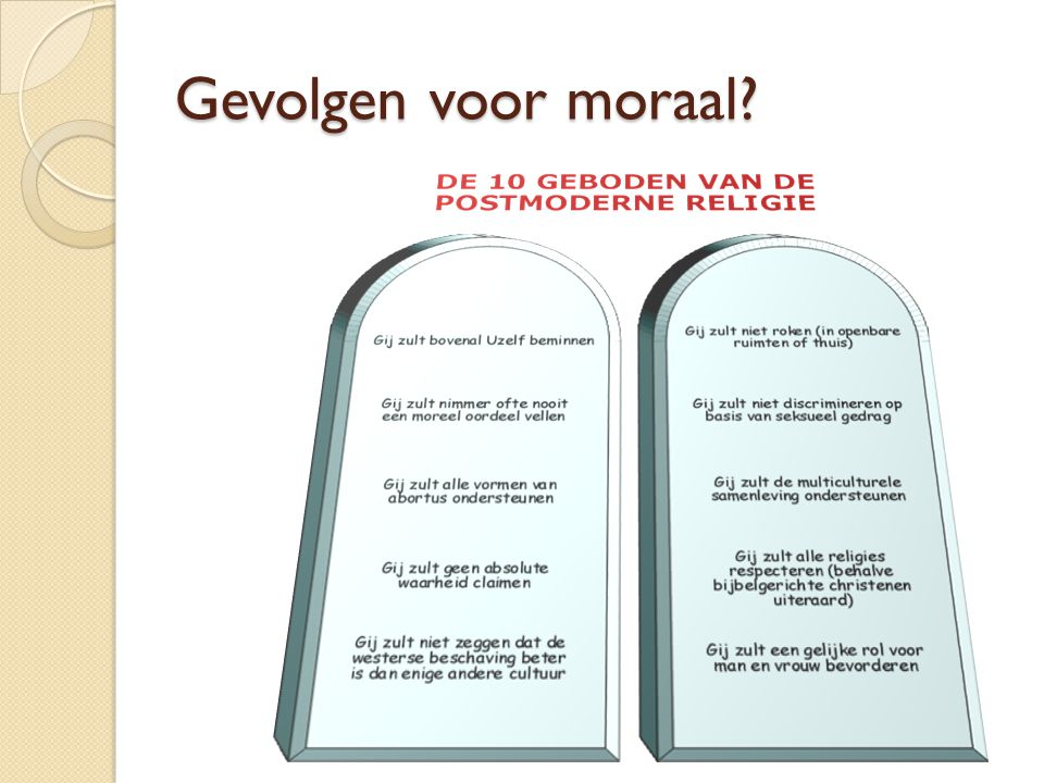 Gevolgen voor moraal