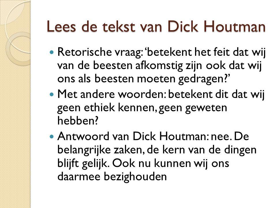 Lees de tekst van Dick Houtman