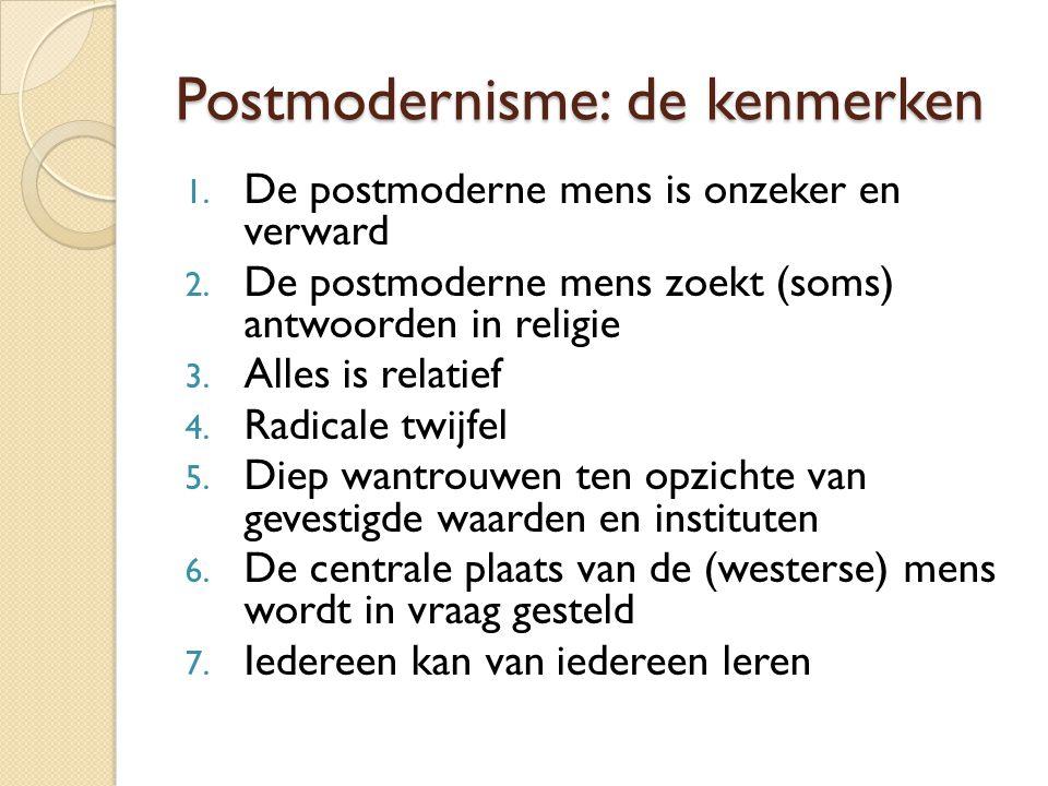 Postmodernisme: de kenmerken