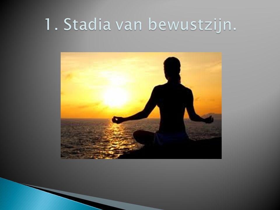 1. Stadia van bewustzijn.
