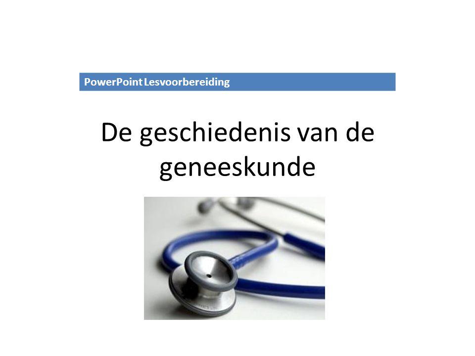 De geschiedenis van de geneeskunde