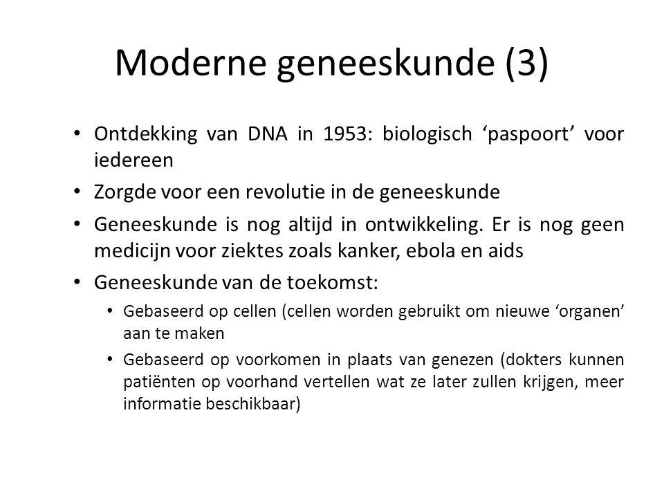 Moderne geneeskunde (3)