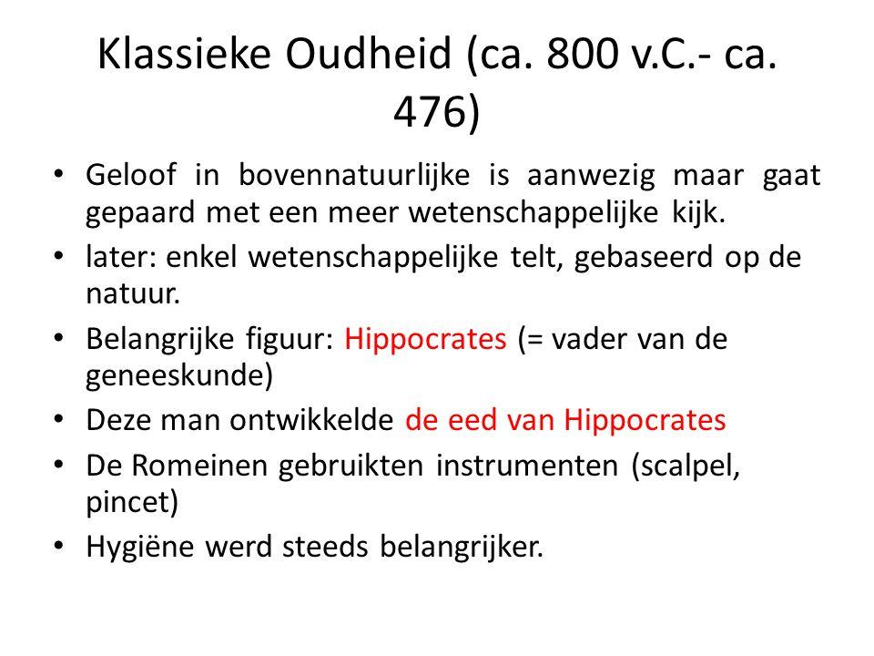 Klassieke Oudheid (ca. 800 v.C.- ca. 476)
