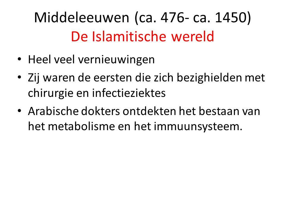 Middeleeuwen (ca. 476- ca. 1450) De Islamitische wereld