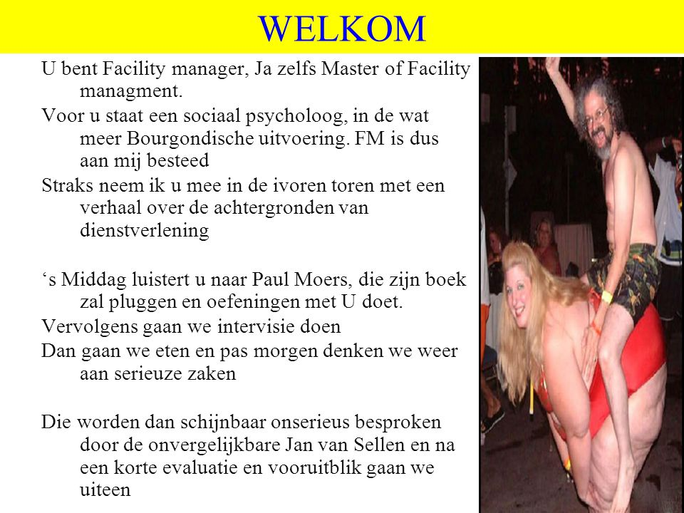 WELKOM U bent Facility manager, Ja zelfs Master of Facility managment.