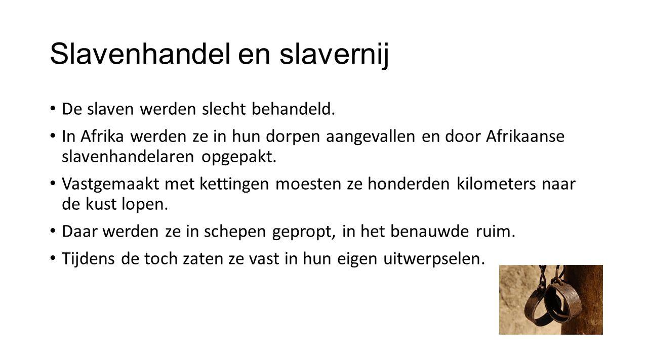 Slavenhandel en slavernij