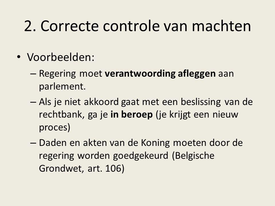 2. Correcte controle van machten