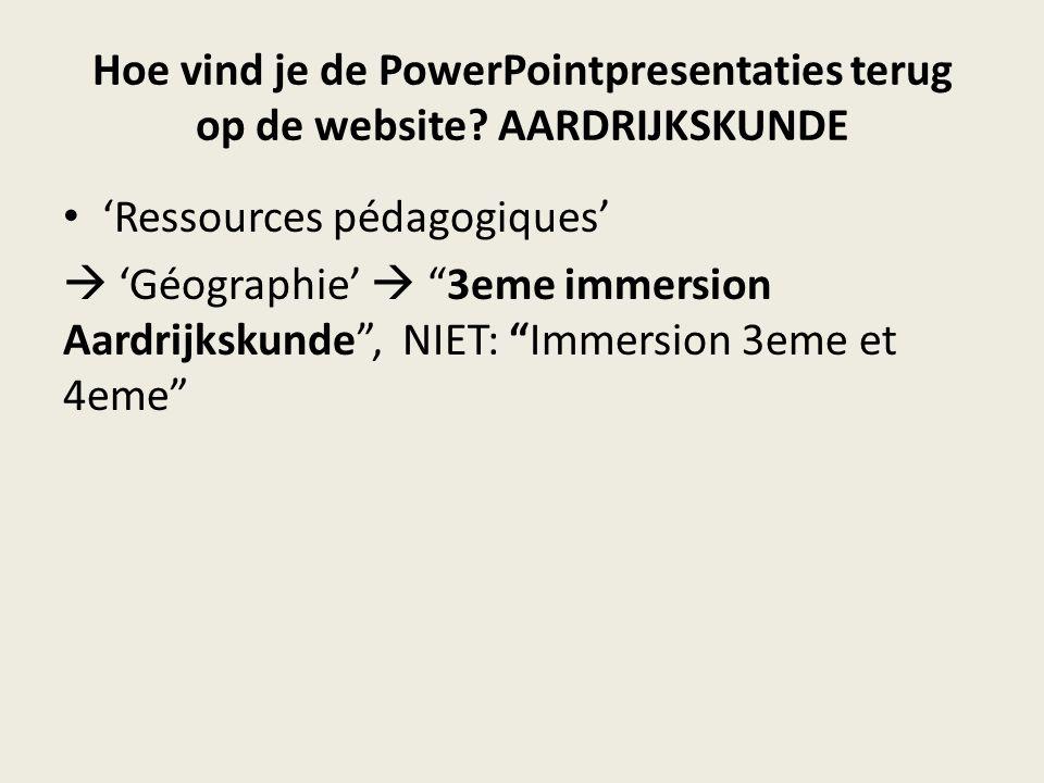 Hoe vind je de PowerPointpresentaties terug op de website