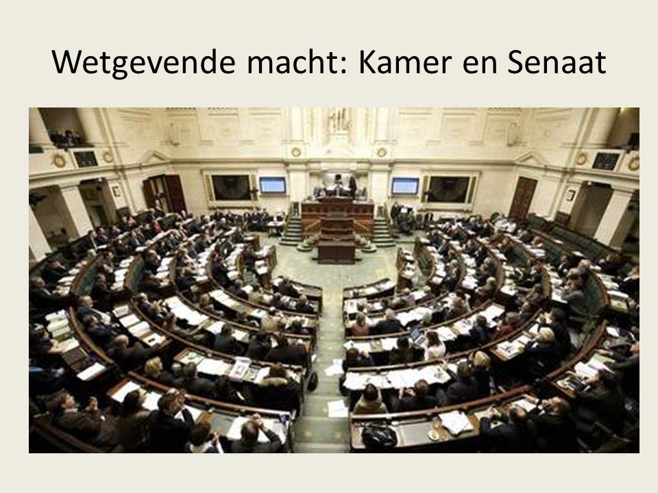 Wetgevende macht: Kamer en Senaat
