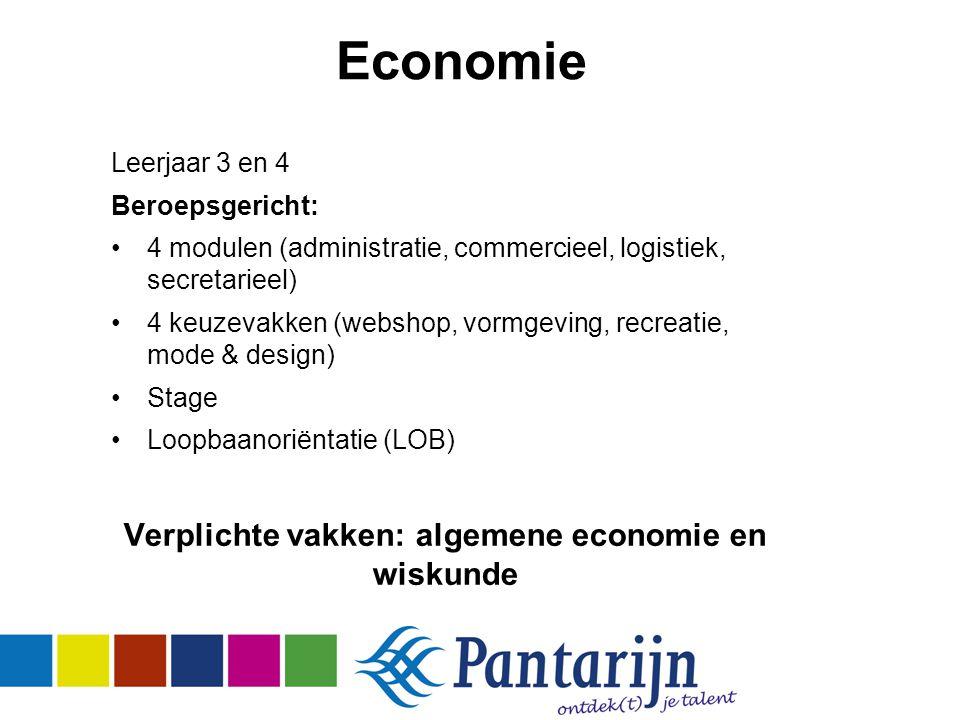 Verplichte vakken: algemene economie en wiskunde