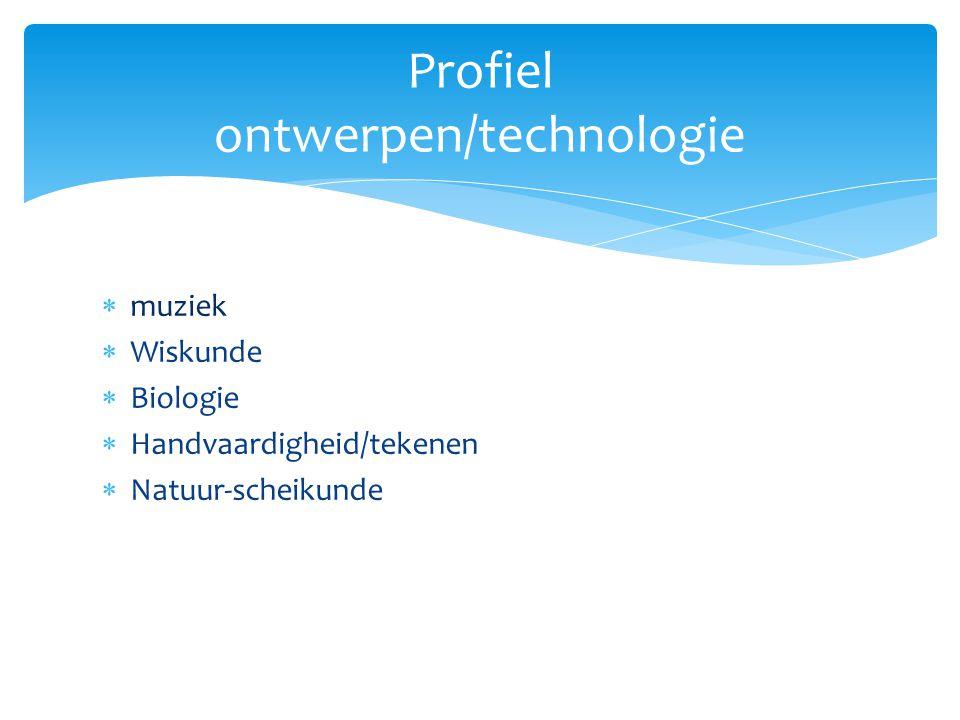 Profiel ontwerpen/technologie