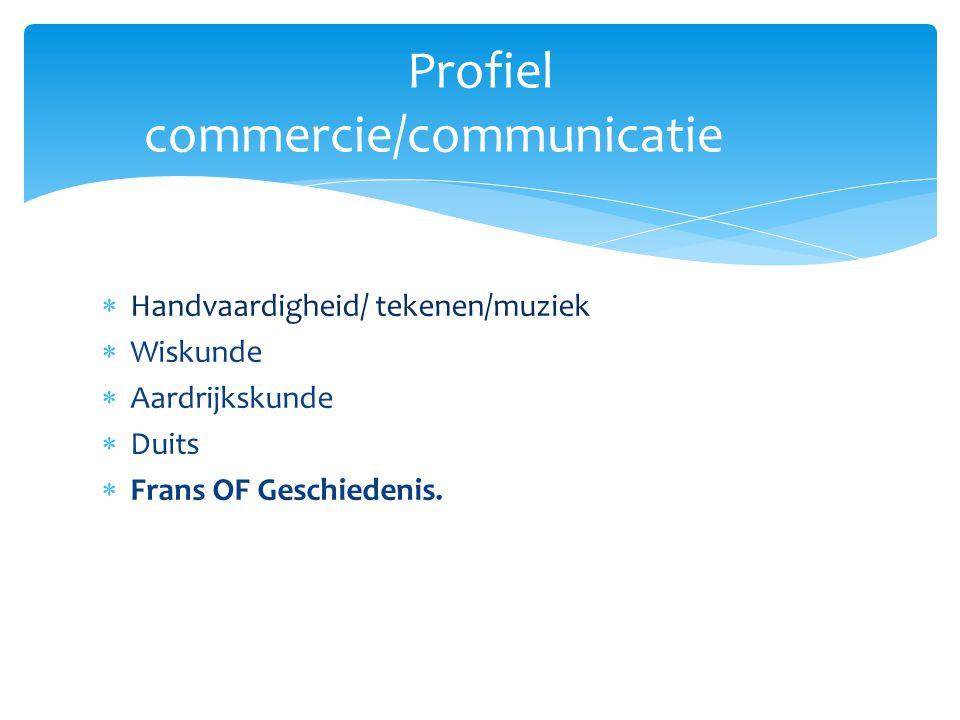 Profiel commercie/communicatie