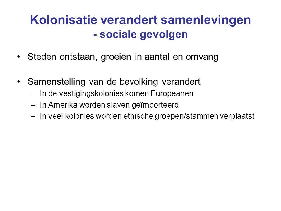Kolonisatie verandert samenlevingen - sociale gevolgen
