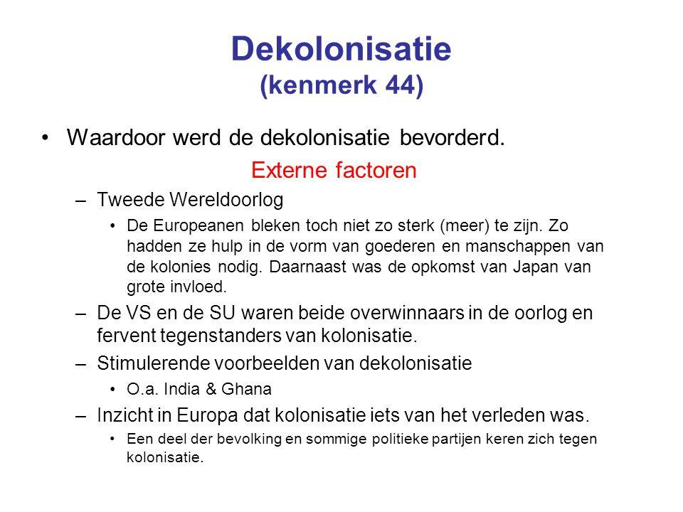 Dekolonisatie (kenmerk 44)
