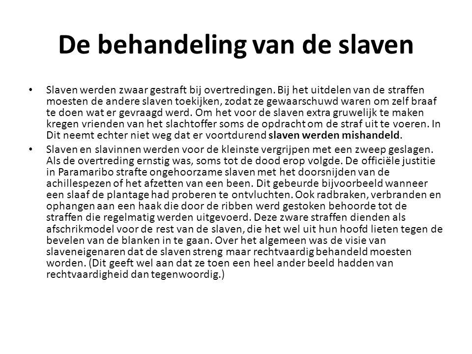 De behandeling van de slaven