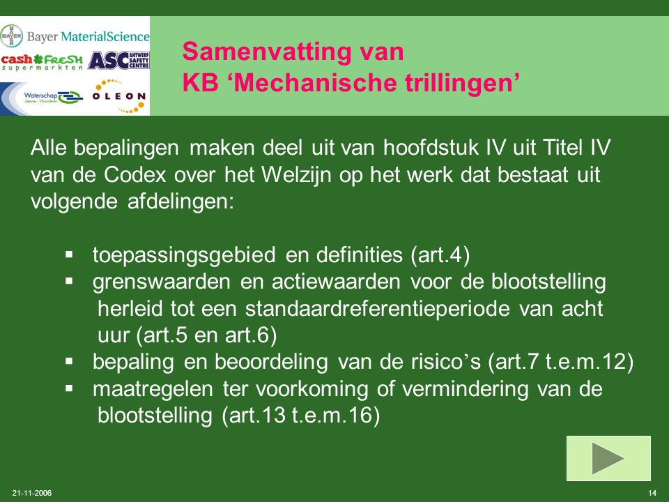 Samenvatting van KB 'Mechanische trillingen'