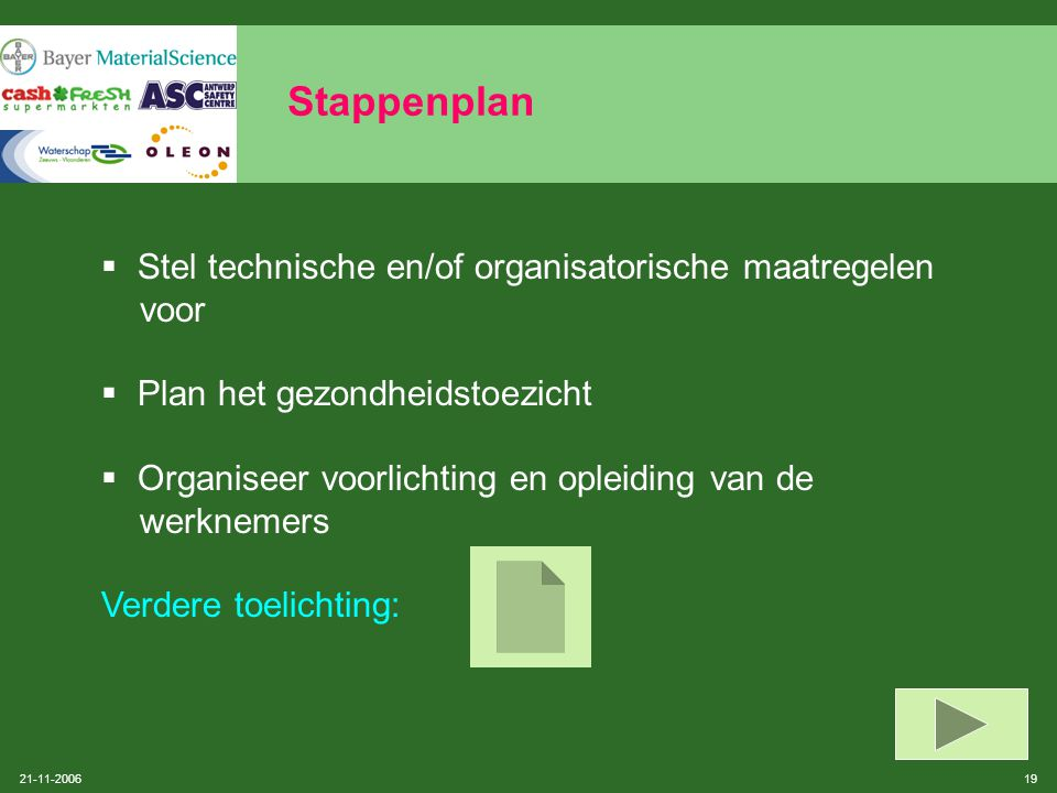 Stappenplan Stel technische en/of organisatorische maatregelen voor