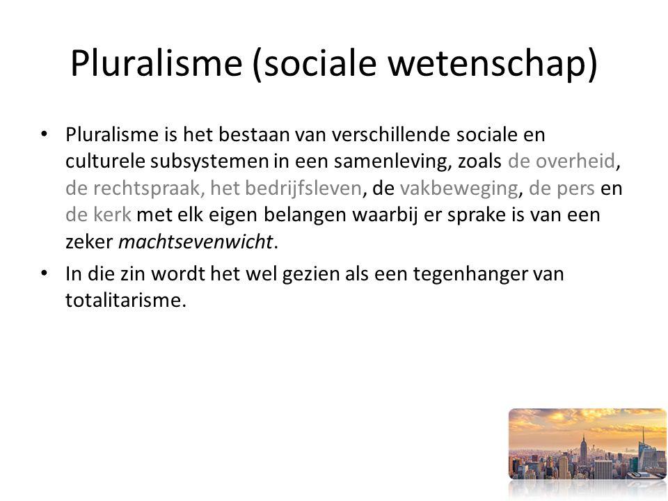 Pluralisme (sociale wetenschap)
