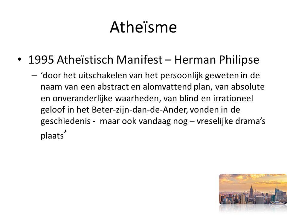 Atheïsme 1995 Atheïstisch Manifest – Herman Philipse