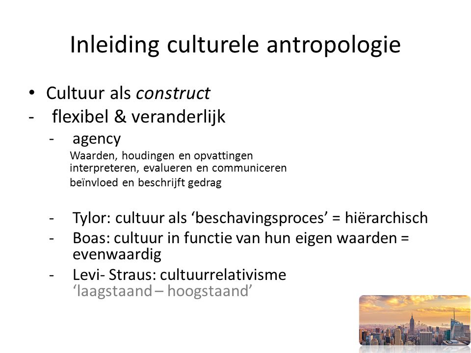 Inleiding culturele antropologie