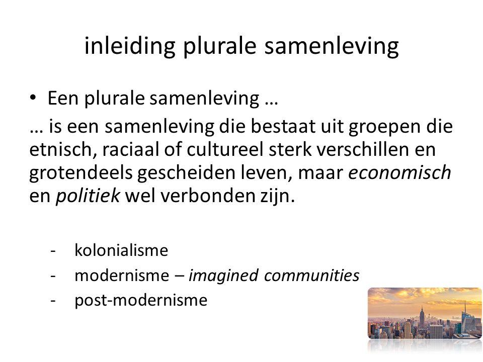 inleiding plurale samenleving
