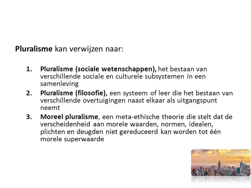 Pluralisme kan verwijzen naar: