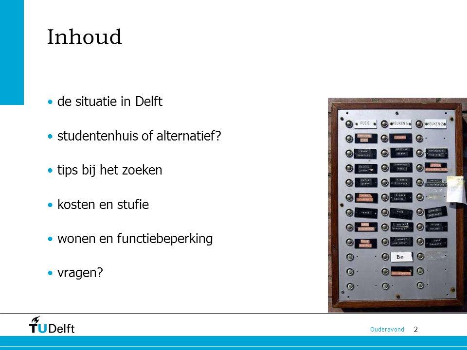 Inhoud de situatie in Delft studentenhuis of alternatief