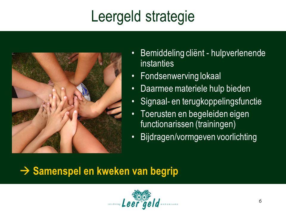 Leergeld strategie  Samenspel en kweken van begrip
