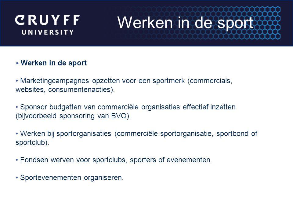 Werken in de sport Werken in de sport