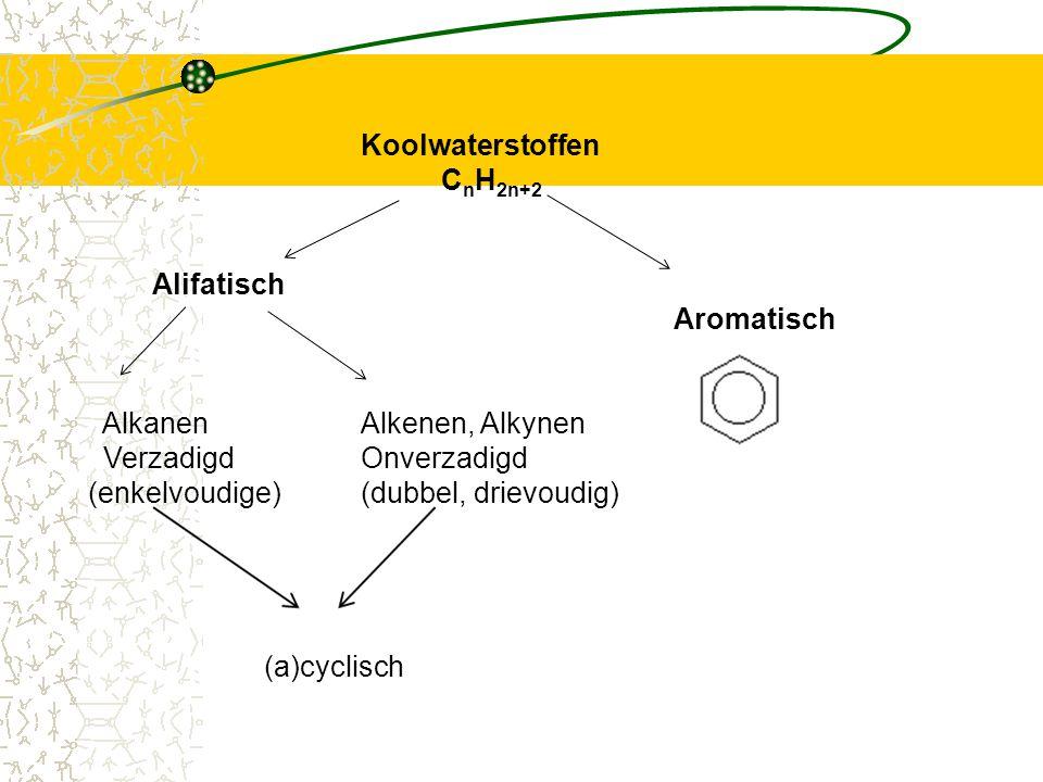 Alkanen Alkenen, Alkynen Verzadigd Onverzadigd