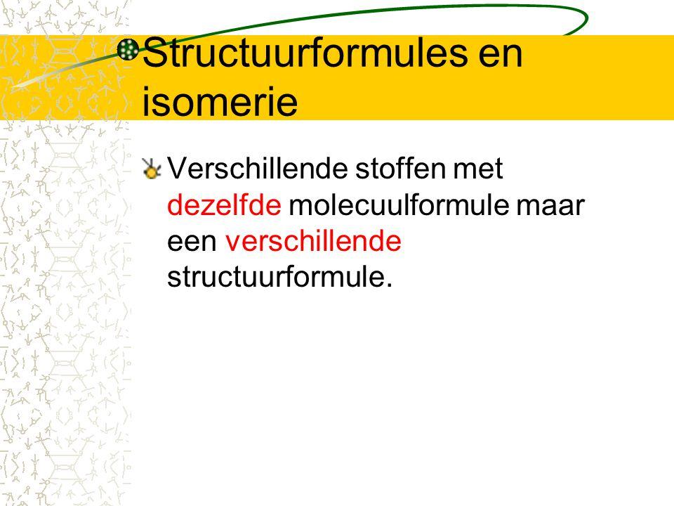 Structuurformules en isomerie