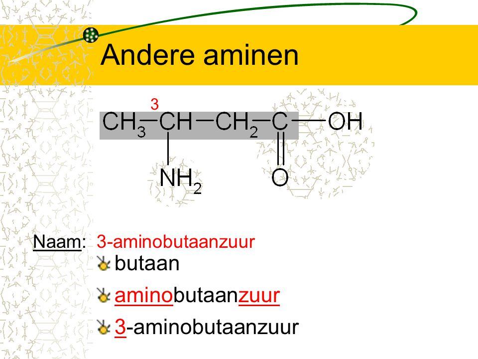 Andere aminen butaan aminobutaanzuur 3-aminobutaanzuur Naam: