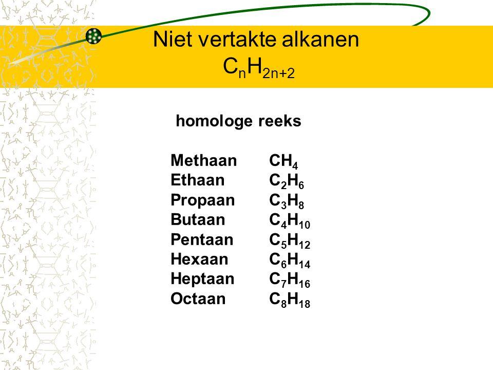 Niet vertakte alkanen CnH2n+2