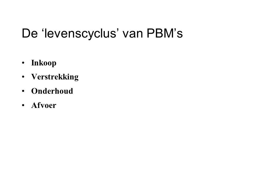 De 'levenscyclus' van PBM's