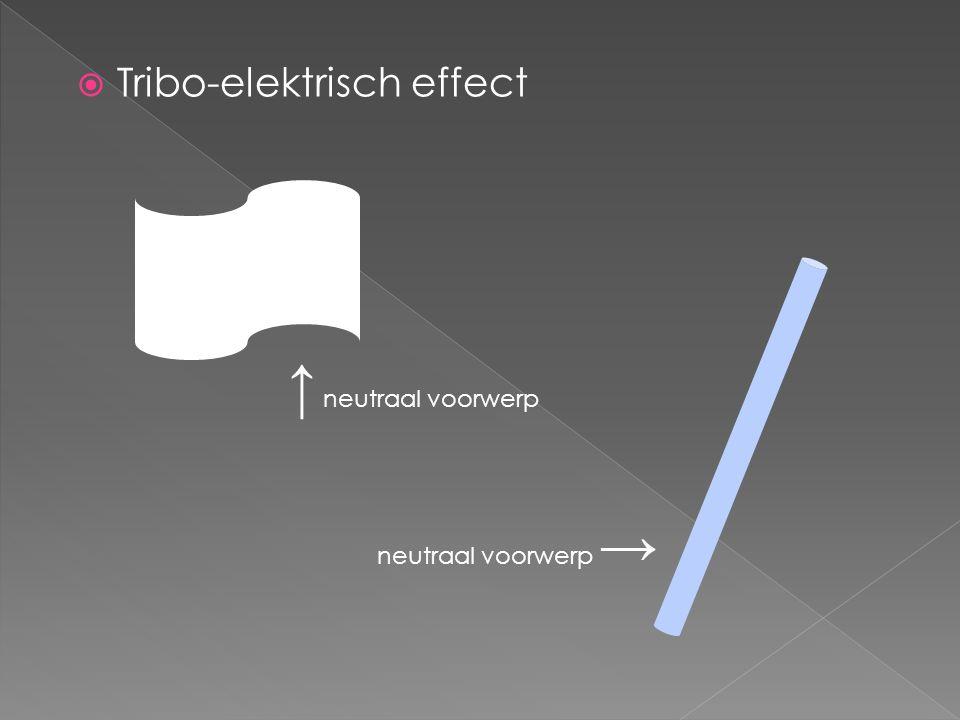 Tribo-elektrisch effect