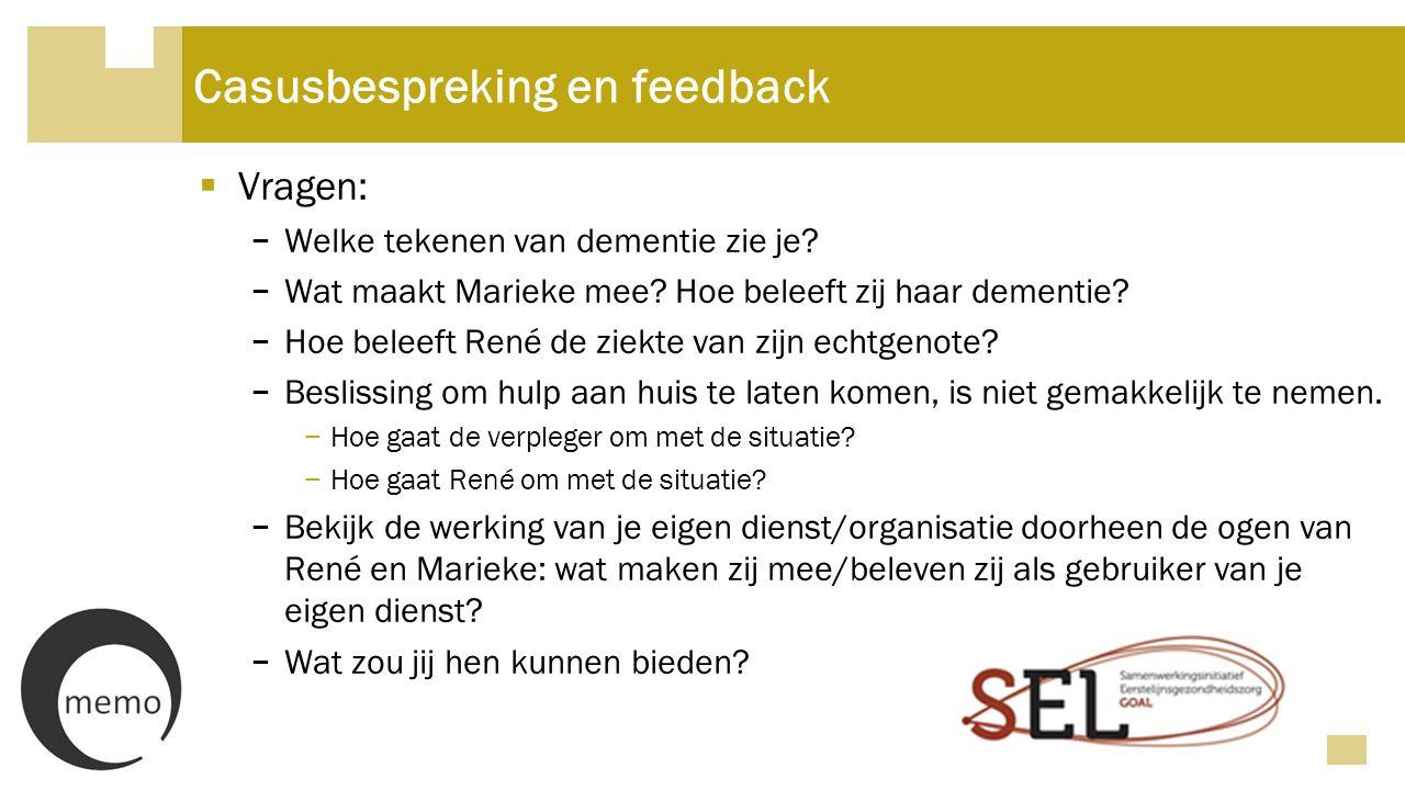 Casusbespreking en feedback