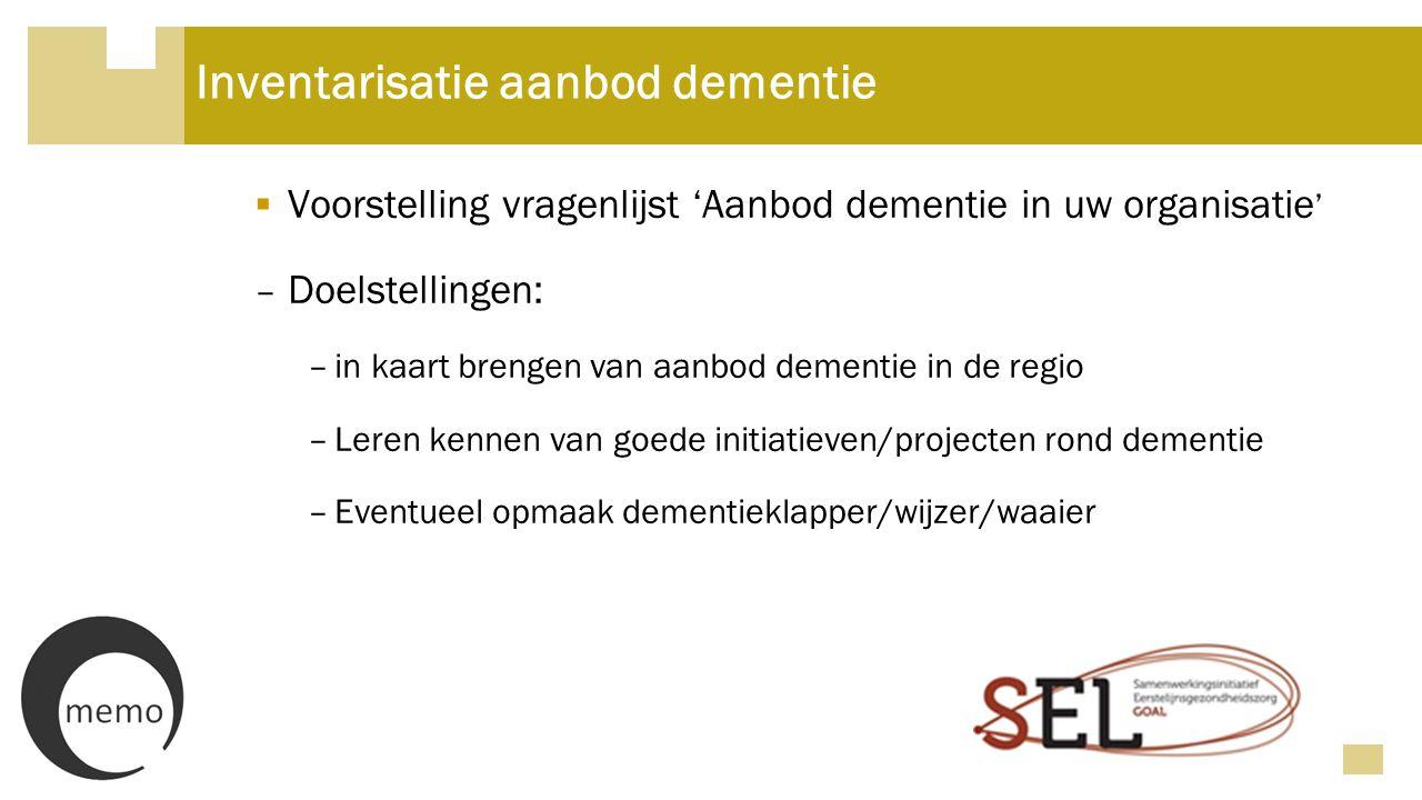 Inventarisatie aanbod dementie
