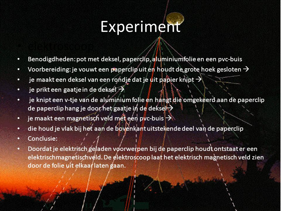 Experiment elektroscoop